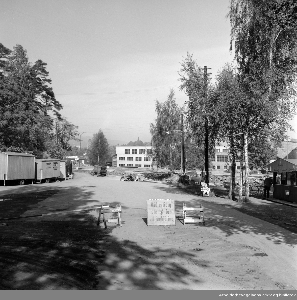 Strandpromenaden. Bygdøyveien. Oktober 1959