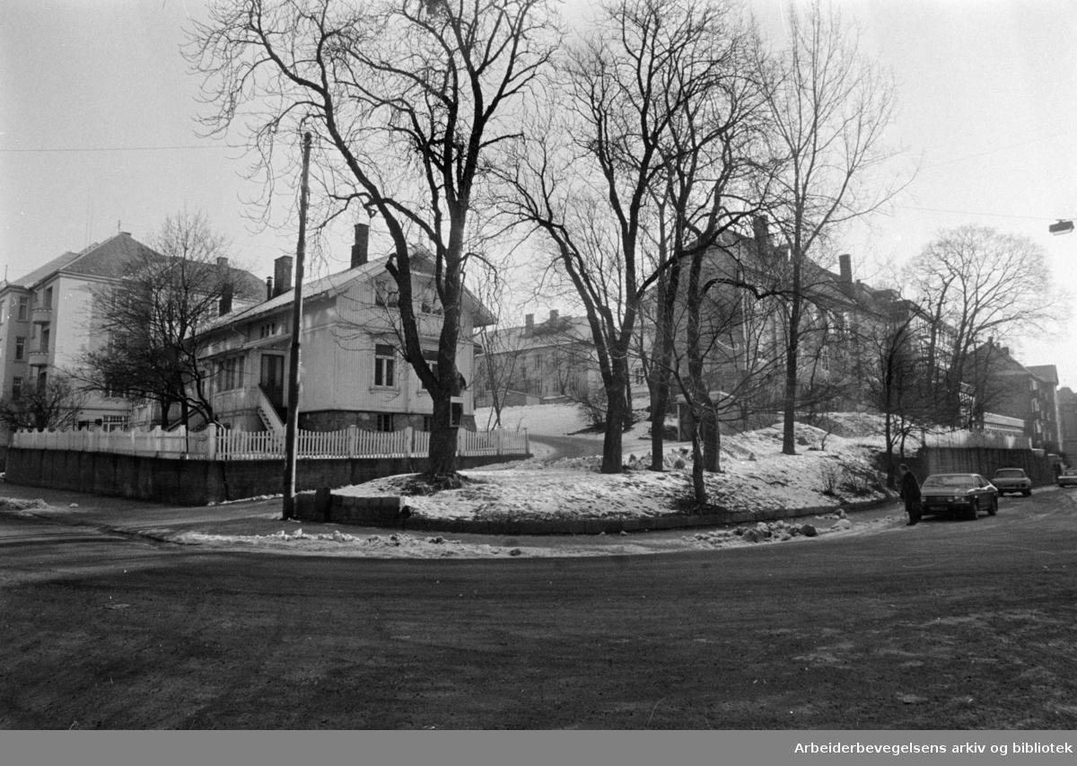 Schafteløkken.Februar 1975