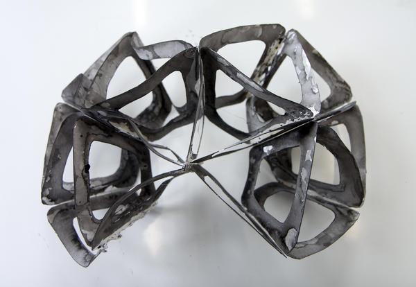 Skulpturelt objekt vist i utstilling.. Foto/Photo
