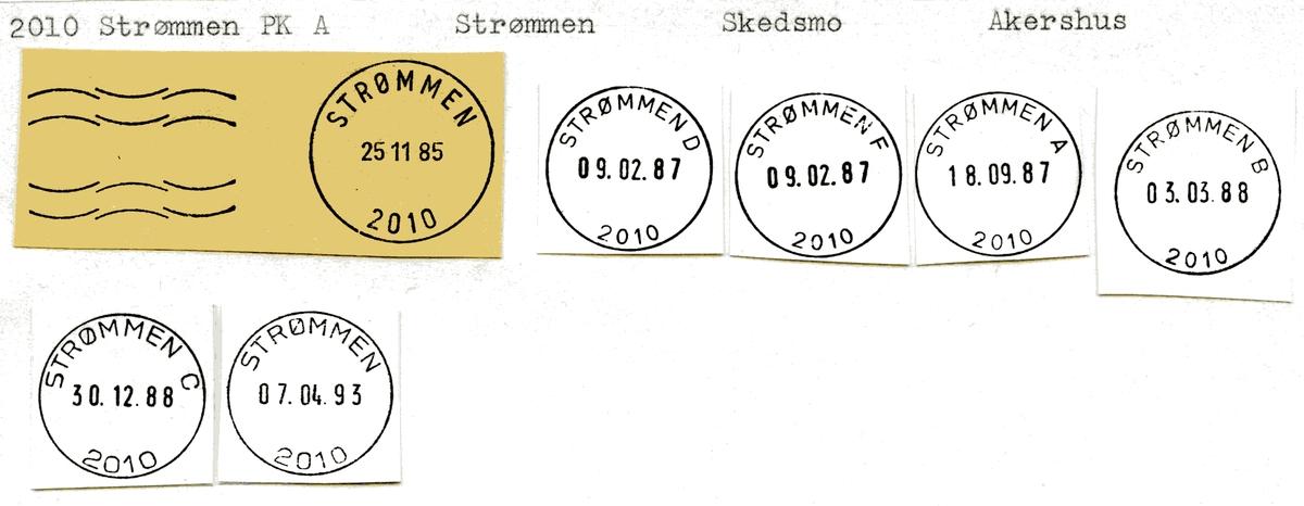 Stempelkatalog 2010 Strømmen, Skedsmo kommune, Akershus