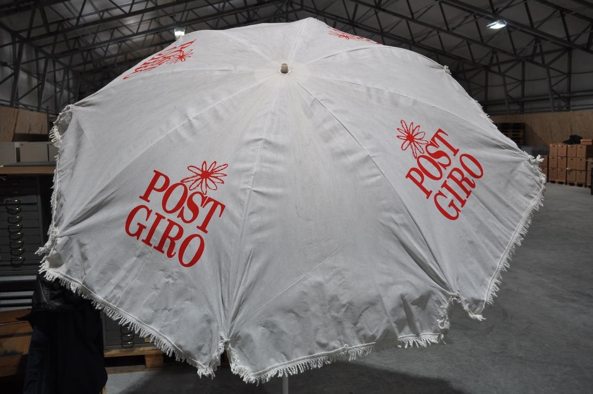 Reklameparasoll fra Postgiro