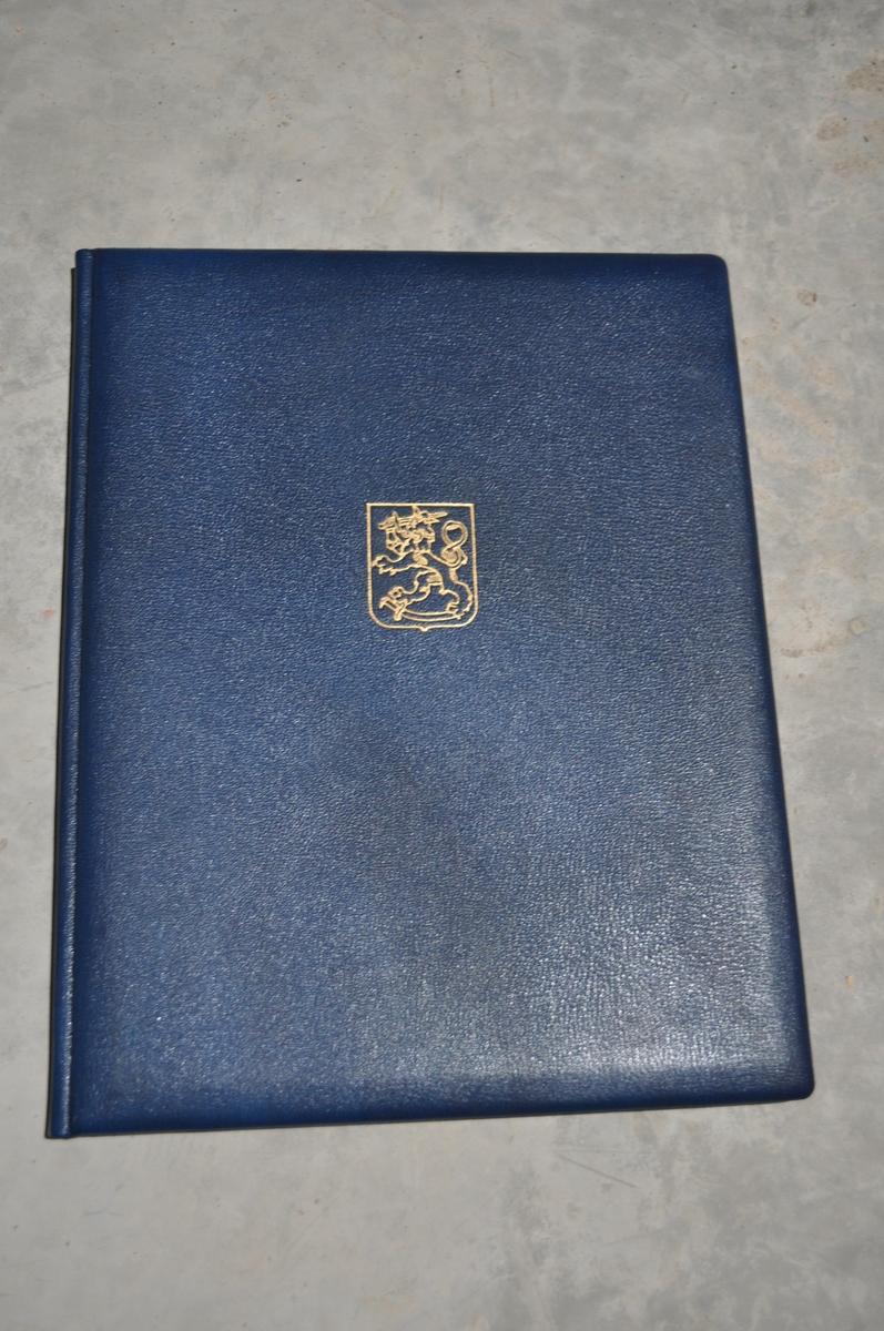 Gratulasjon fra Post-och telegrafstyrelsen i Helsingfors 15.4.1947. Posten 300 år.
