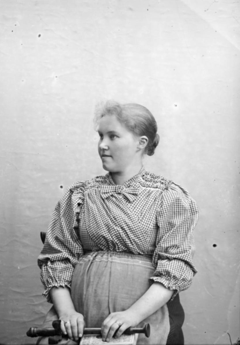 Portrett av Margit Lie, f 1875, kona til Hans H Lie, fotograf. Nord-Fron