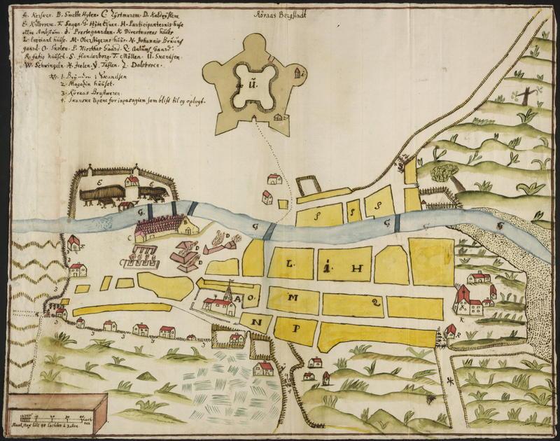 Kart Røros Bergstad 1711 (Foto/Photo)