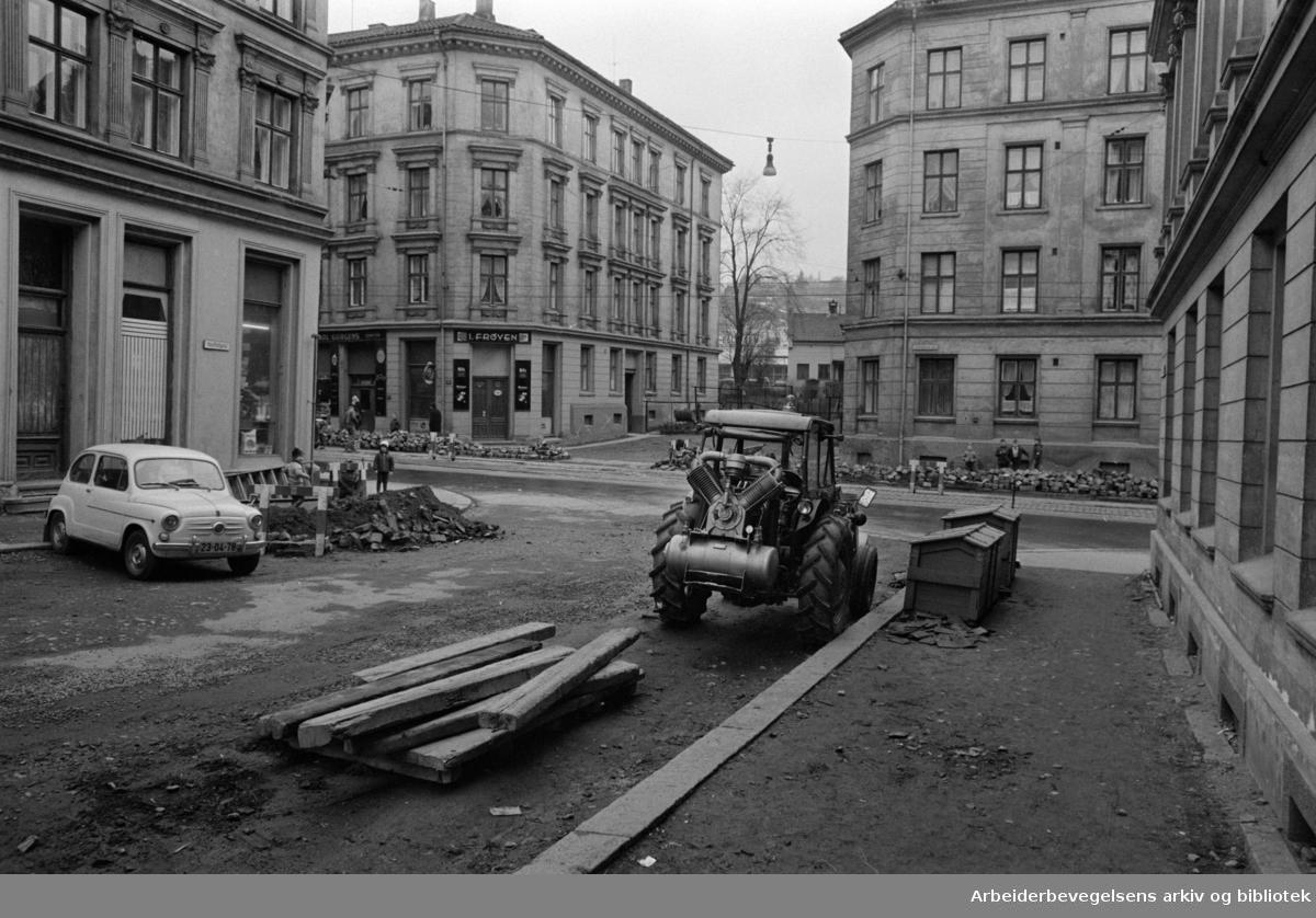 Vestfoldgata er fortsatt privatgate. April 1967