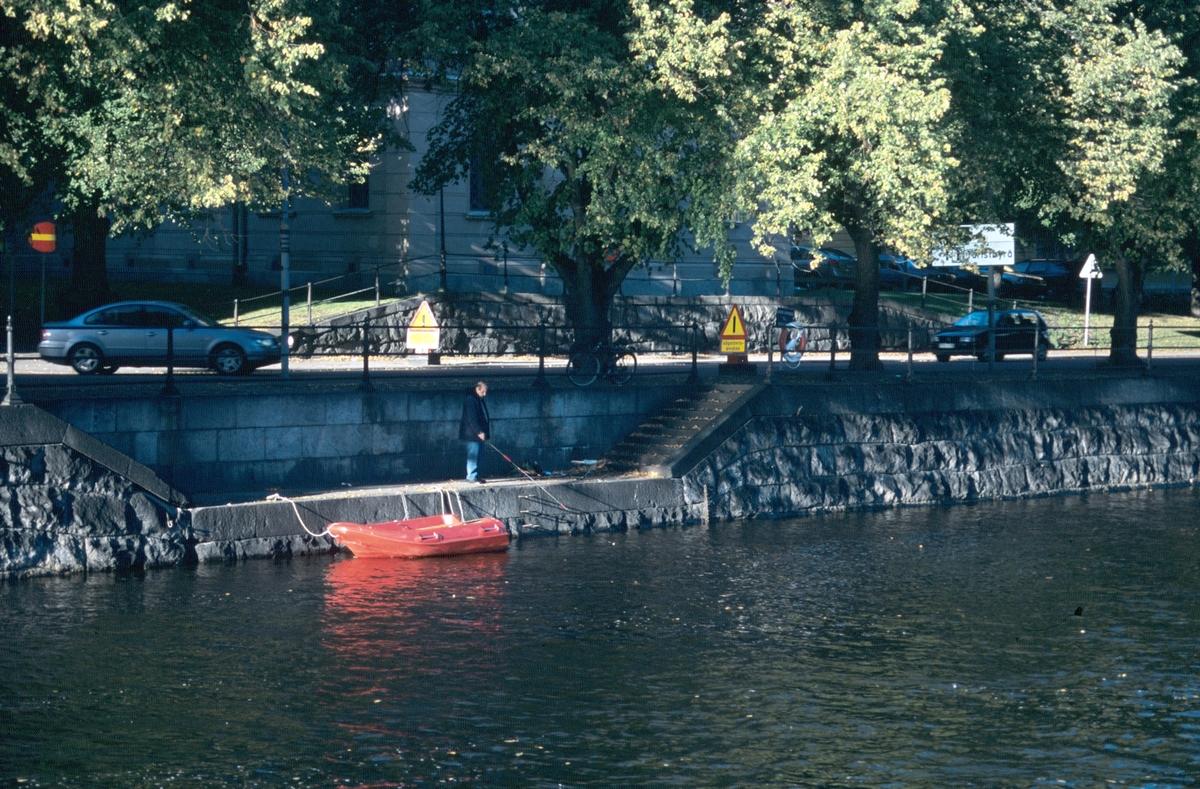 Stadsvy. Gavleån efter Norra Strandgatan, Gävle
