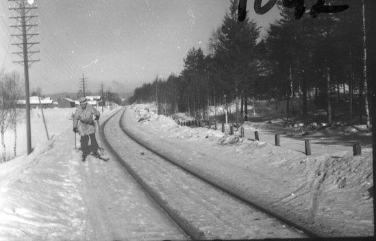 Järnvägspår.