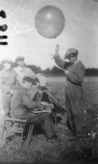 Pilotballongvisering. Frösunda, Ing 3.