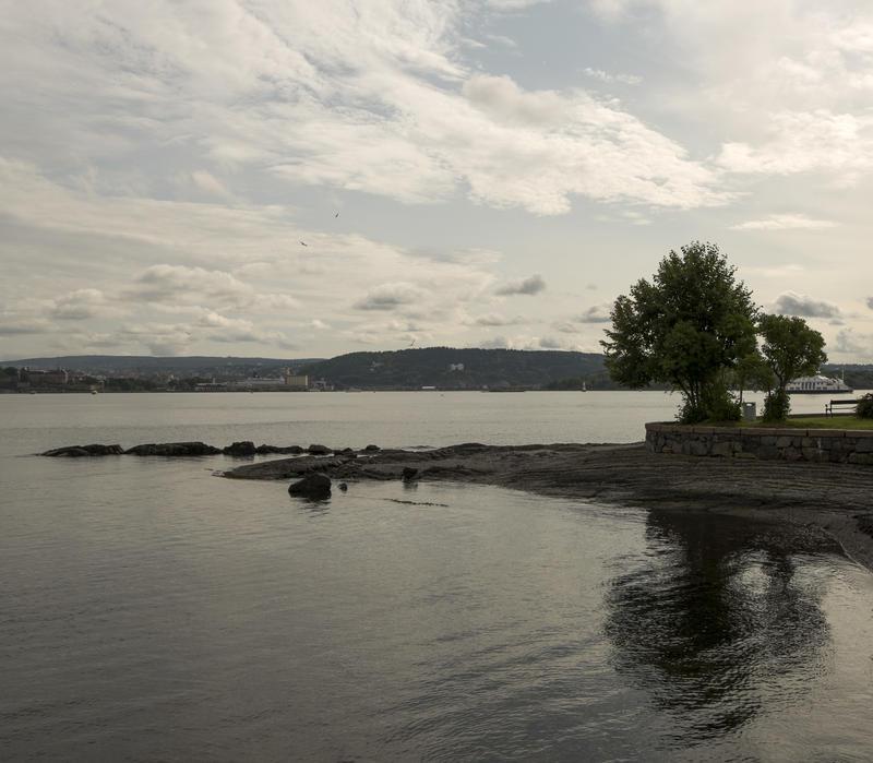 Uteområdet ved Norsk Maritimt Museum.