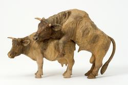 Tjur och ko/Kobröllop  [Skulpturgrupp]