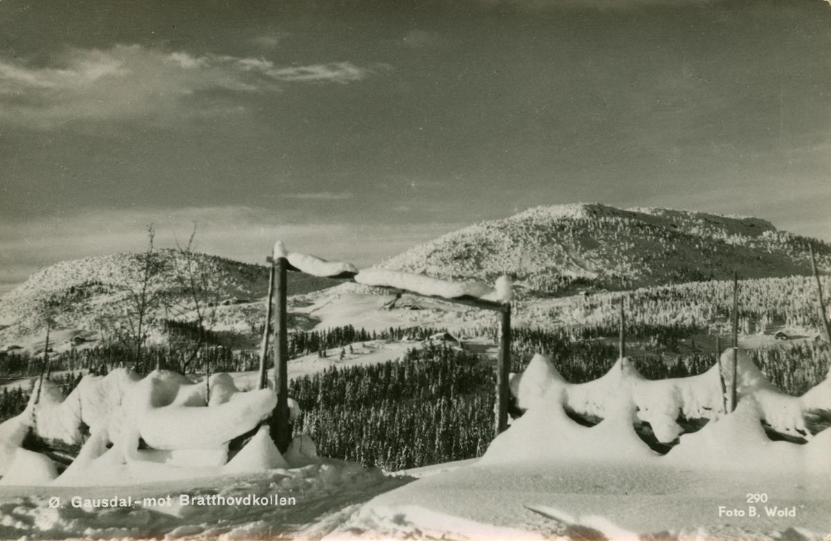 Postkort: Østre Gausdal - mot Bratthovdkollen