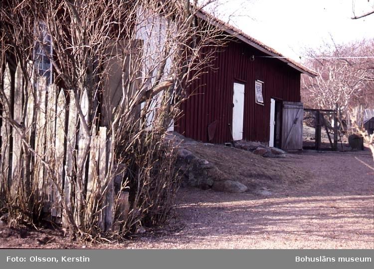 """Text på kortet: """"Ögården Skaftö sn. April 1987""""."""