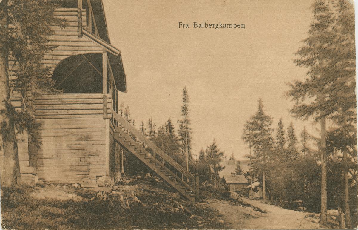 Repro: Fra Balbergkampen, postkort