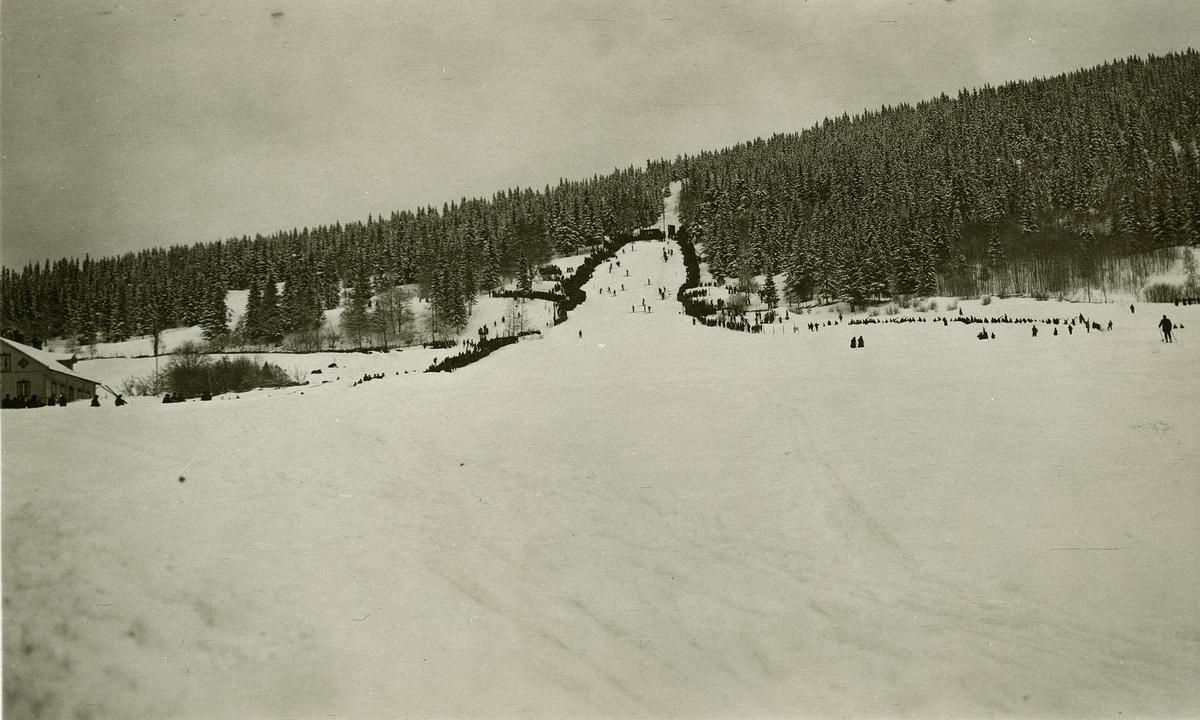Postkort: Lysgårdsbakken, Lillehammer