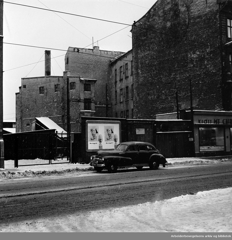 Oslo gate. Januar 1962