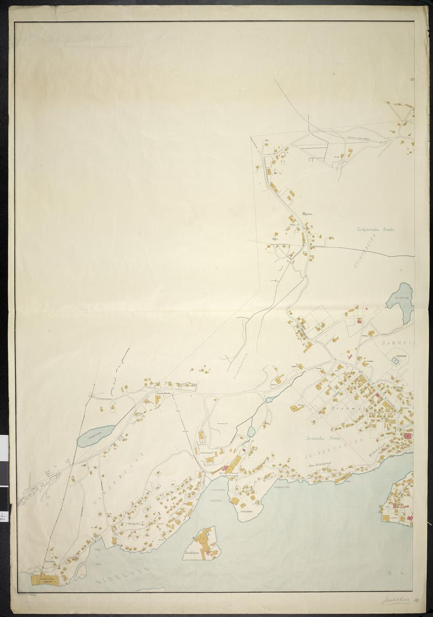 Kart over Arendal Bl.3