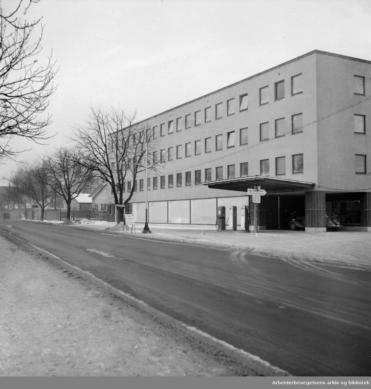 Drammensveien 159. Scania Vabis. Januar 1952