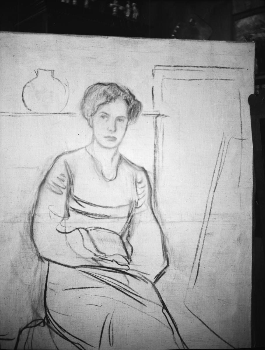 Tegning av kvinne