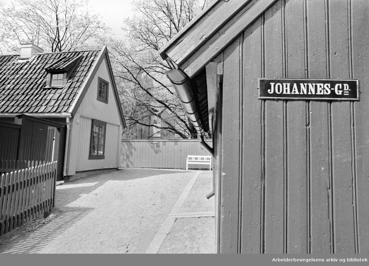 Bygdøy. Folkemuseet. Fra Enerhaugen. Mai 1969