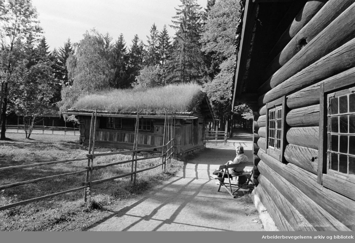 Bygdøy. Folkemuseet. 75 års jubilant. September 1969