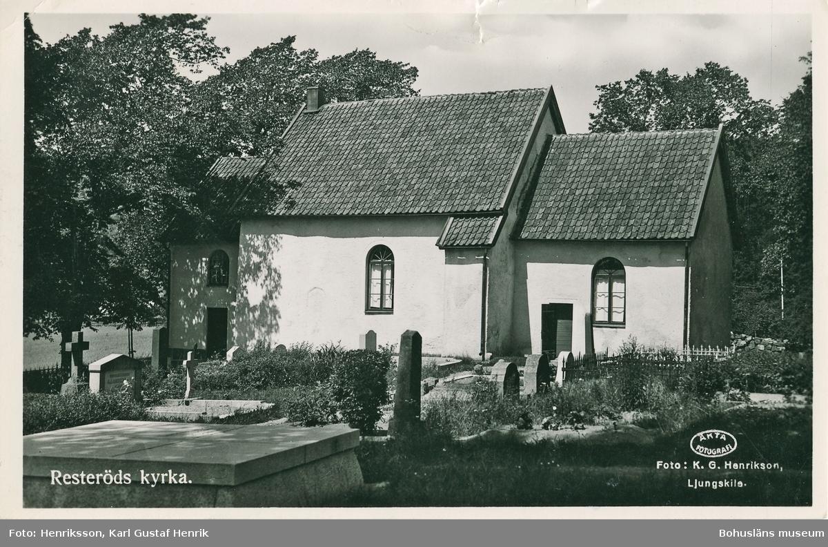 """Text till bilden: """"Resteröds kyrka""""."""