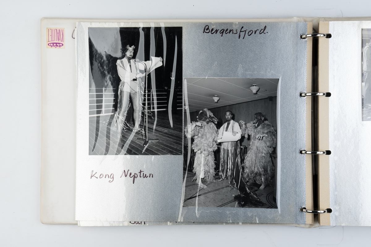 Album med fotografier fra cruise med M/S 'Bergensfjord' på 1960-tallet