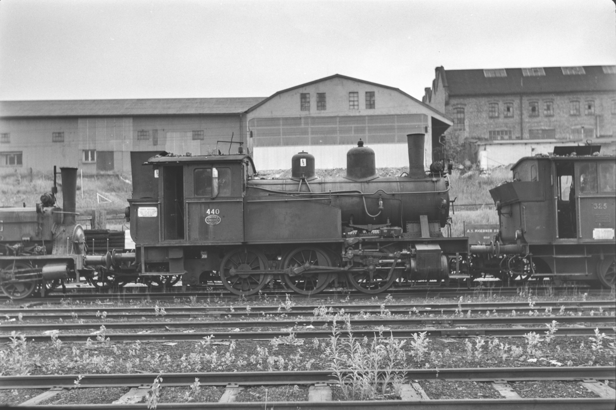Hensatt damplokomotiv type 23b nr. 440 i Lodalen i Oslo.