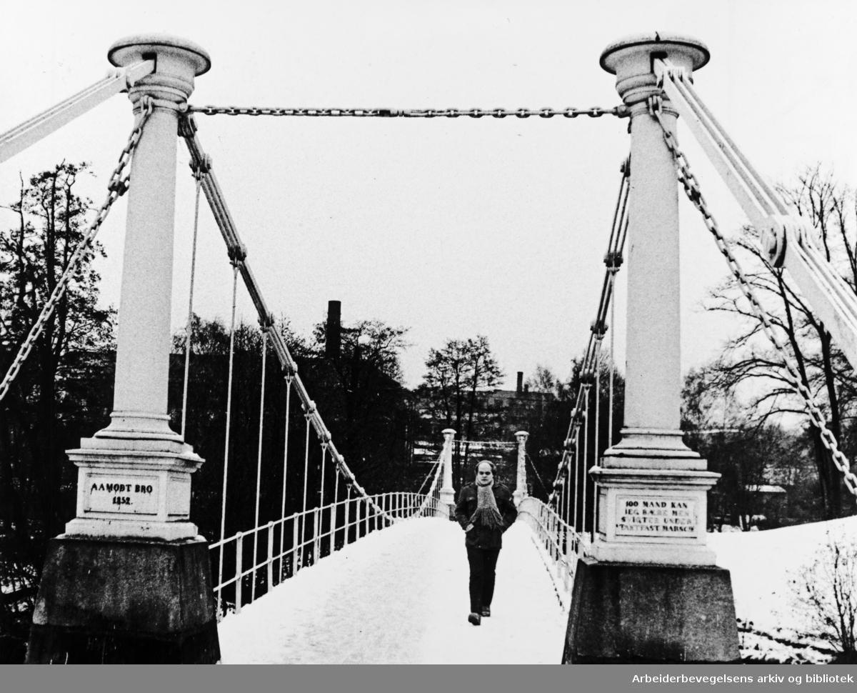 Akerselva, Aamodt bru. November 1980.