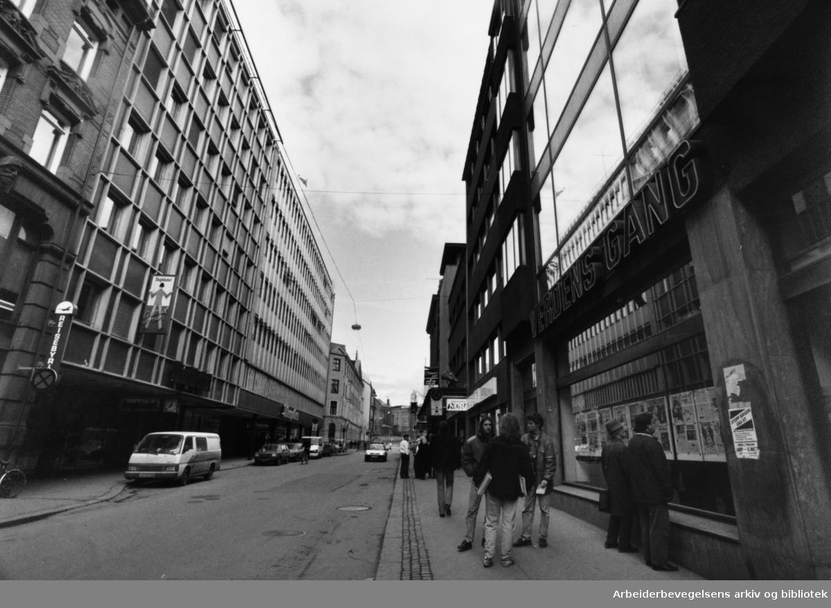 Akersgata. Verdens Gang. 16. mars 1991