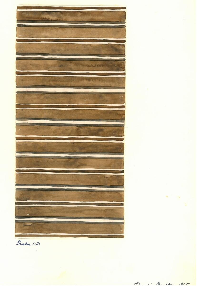 Skisser till skyttlade mattor. Formgivare: Kerstin Butler 1965