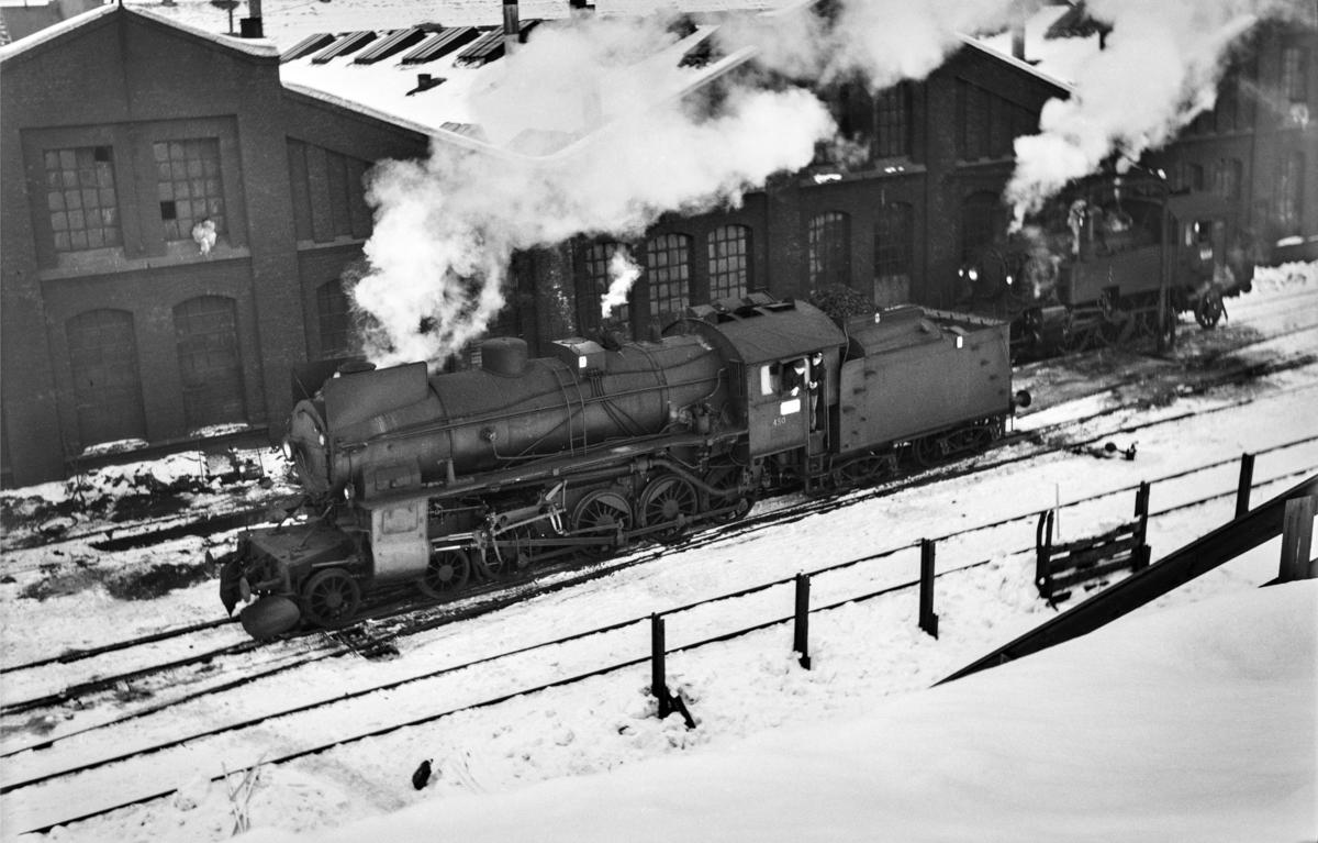 Damplokomotiv type 31b nr. 450 ved Gamlestallen i Lodalen i Oslo.