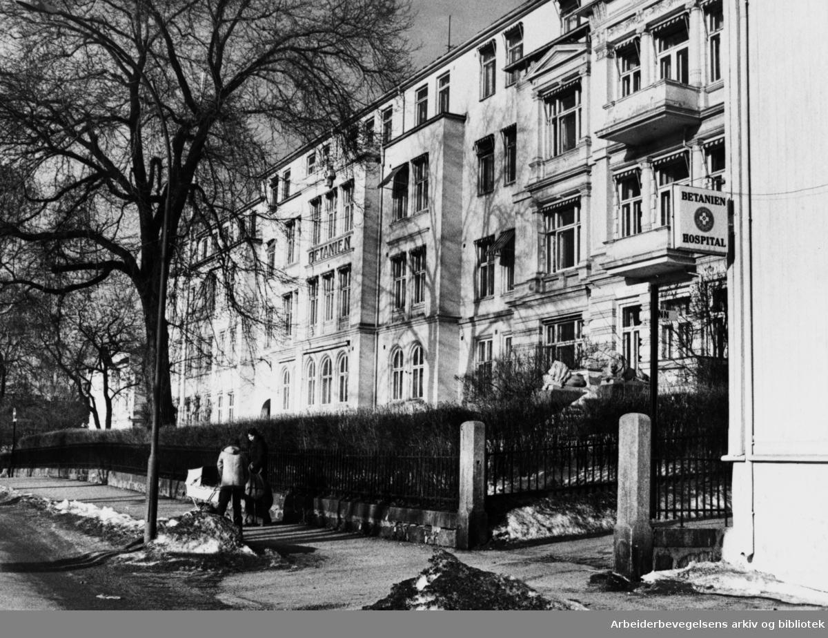 Betanien sykehus. Februar 1980
