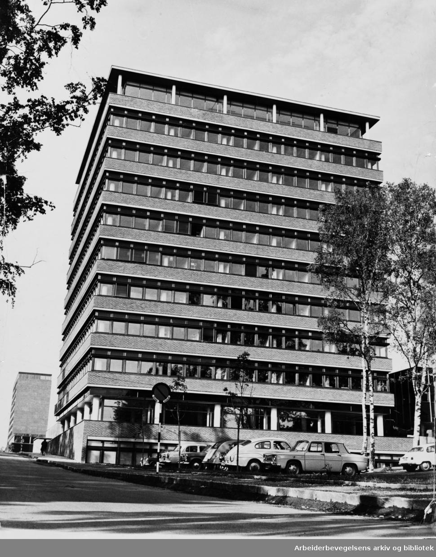 Blindern. Universitetet. Administrasjonsbygget. Juni 1964