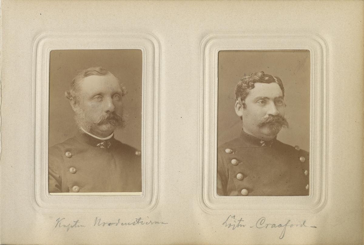 Porträtt av Otto Wilhelm Oscar Nordenstierna, kapten vid Kronobergs regemente I 11. Se även bild AMA.0008164 och AMA.0021652.