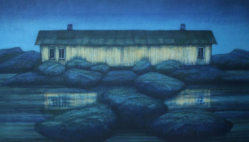 """""""Huset ved havet"""", grafikk"""