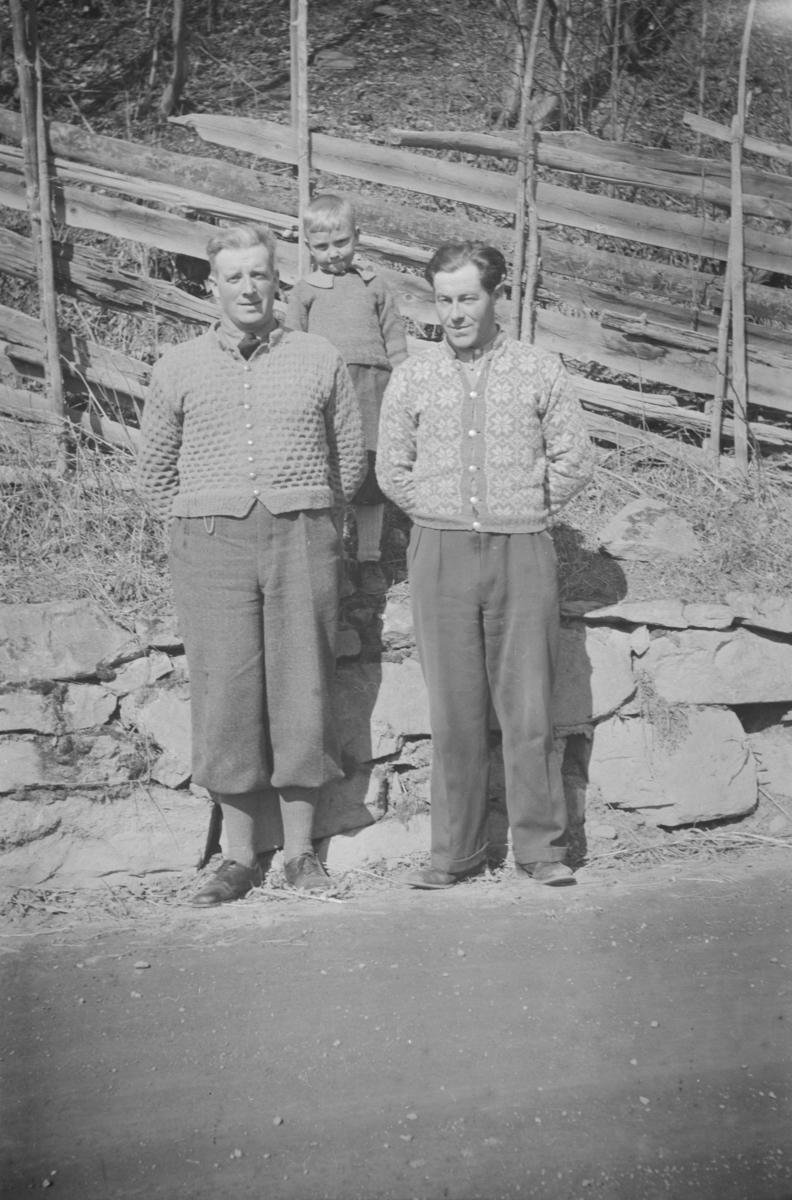 Olav og Per Børresen samt Peder Heggelund