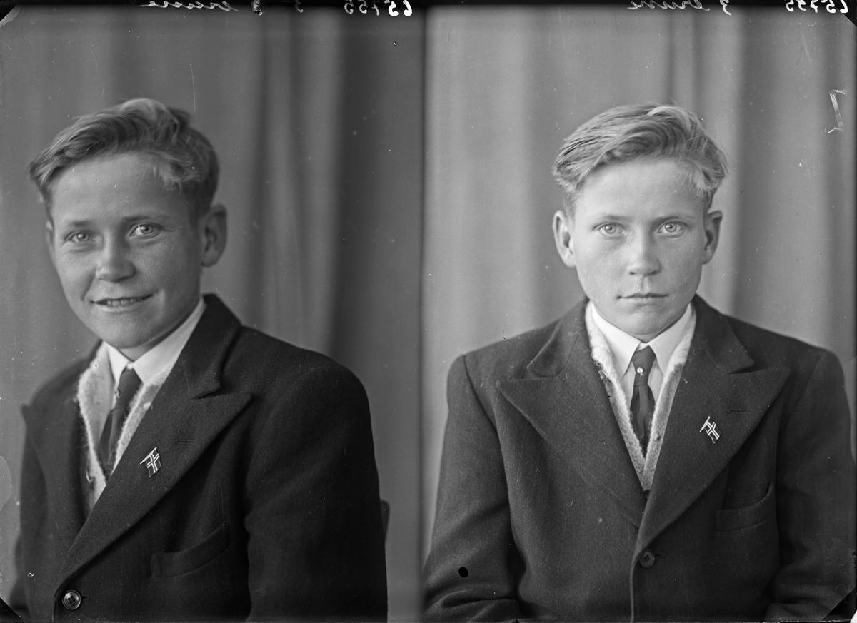 Portrett. Ung mann/gutt. Bestilt av Anskar Fagerland. Tjernagel.
