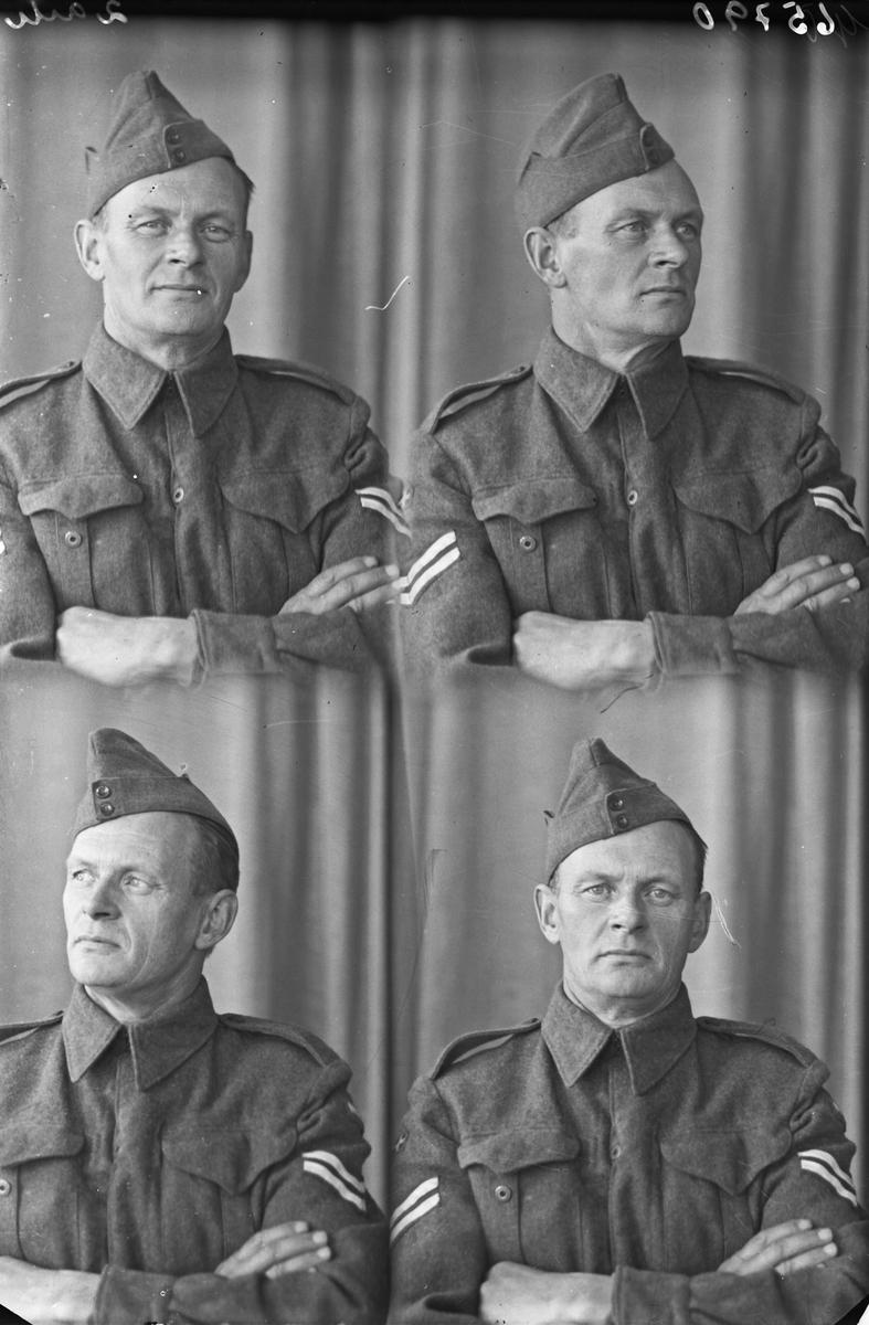 Portrett. Mann med militæruniform. Bestilt av Kaptein Tangerås.