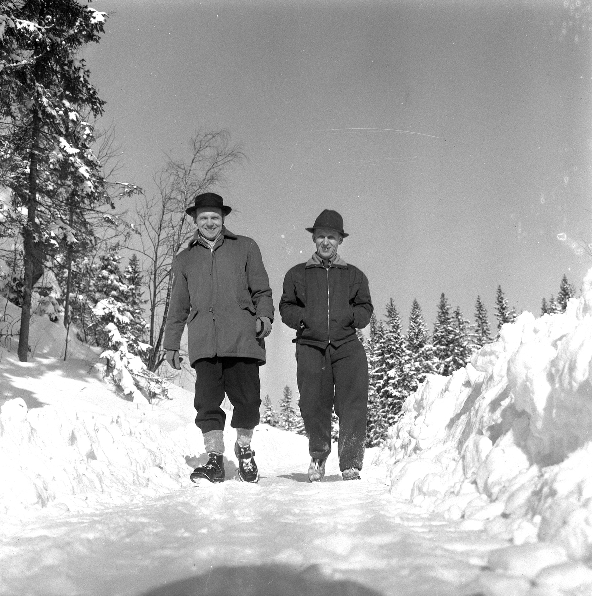 Skidlift i Ånnaboda. 19 Februari 1958.
