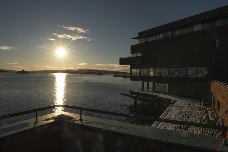 utsikt fra museet mot sør (Foto/Photo)