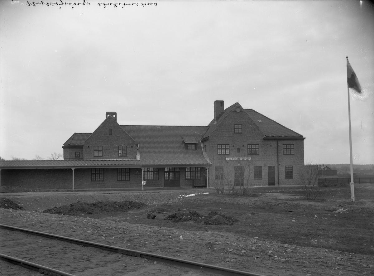 Stationen Hållplats öppnad 5/5 1916  OFVJ. (Oxelösund - Flen - Västmanland Järnväg ) Bispår till hamnen, Kullagerfabriken och Statens Järnvägar