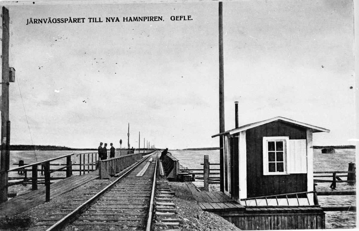 Järnvägsspåret till nya hamnpiren, Fredriksskans.