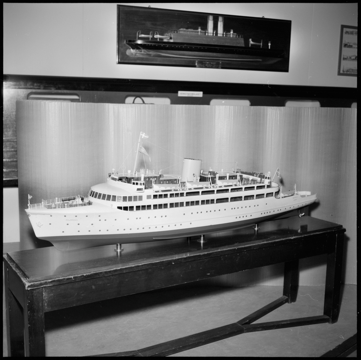 """Modell av tågfärjan """"Malmöhus""""."""