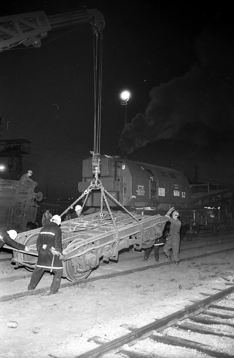 Katastrofövning. Statens Järnvägars brandkårer i Göteborg