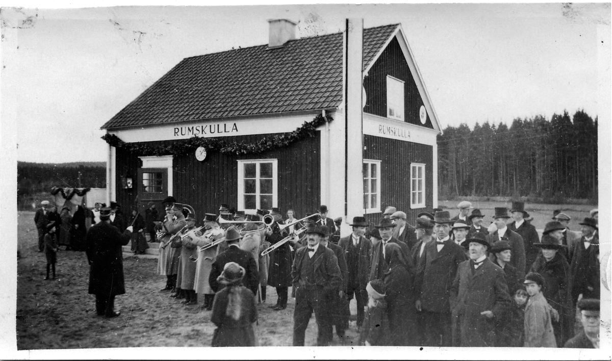 Invigning av Rumskulla station.