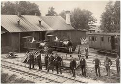 Lokstallarna i Dannemora. Foto i trafikkchefsskrift 1885. DH