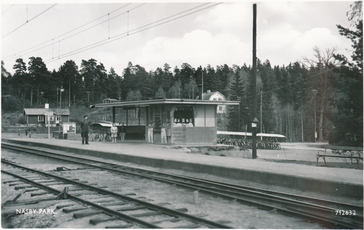 Vykort från pressbyrån 1955