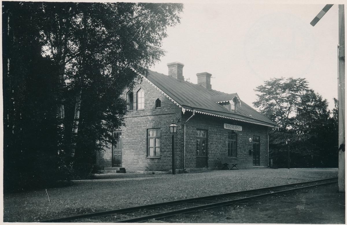 Fågelsta - Vadstena - Ödeshögs Järnväg, FVÖJ.Rogslösa station.