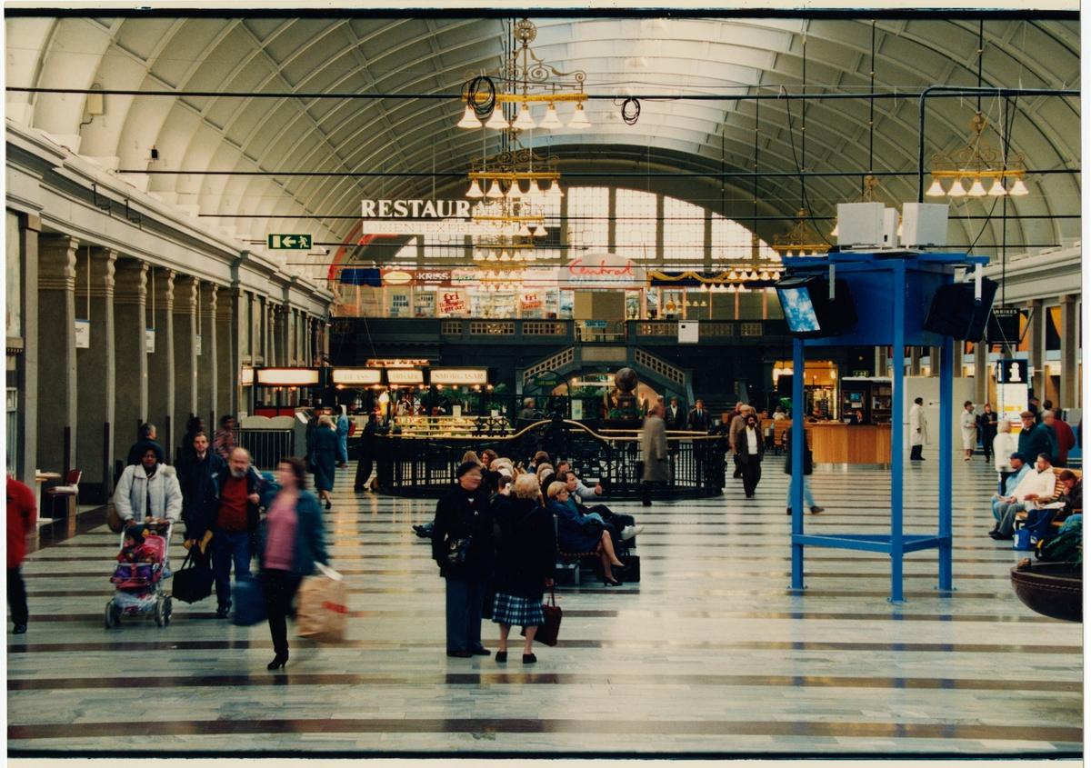 Interiör från vänthallen, Stockholms Centralstation.