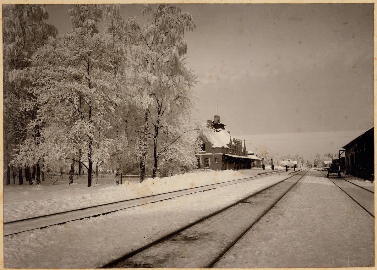 Bangården och järnvägsstationen i Kumla.
